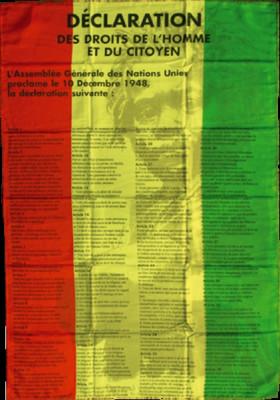 Drapeau Rasta Baby Droits de L'Homme 110 x 90