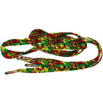 Lacets Camouflage Rasta