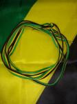 Lacets Jamaïque Noir-Jaune-Vert