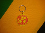 Porte-Clef Peace & Love Rouge-Jaune