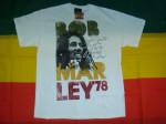 T-shirt Bob Marley 78 Blanc