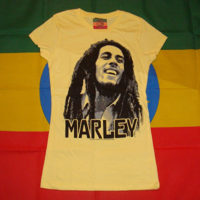 T-shirt Femme Bob Marley Blur Image