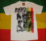 Bob Marley Collage Blanc