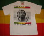 Bob Marley Free Your Mind Blanc