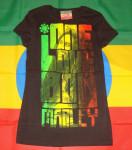 Bob Marley One Love Full Rasta Noir Femme