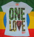 Bob Marley One Love Heart Rasta Femme