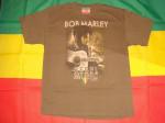 T-shirt Bob Marley Rebel Music Guitare Marron