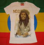 T-shirt Femme Bob Marley Smiling