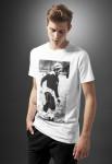 T-shirt Bob Marley «Soccer» Blanc