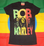 T-shirt Femme Bob Marley Three Rasta Images