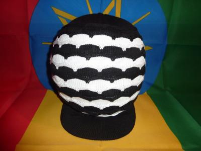 Bonnet Nid d'Abeilles Noir-Blanc Taille M/L