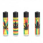 Briquet Clipper Reggae Leaf X 4
