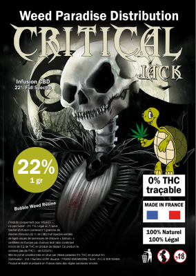 CBD Résine 22% Full Spectre Critical Jack