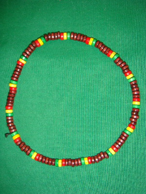 Collier Marron Brillant Rasta Petites Perles