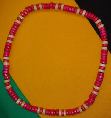 Collier Rose Beige Petites Perles