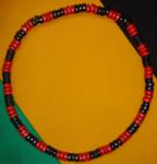 Collier Rouge Noir Petites Perles