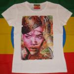 Rihanna Pink Femme Blanc