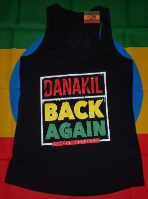 Débardeur Femme Danakil Back Again Vert-Jaune-Rouge (Déstockage)