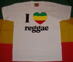 T-shirt I Love Reggae