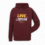 Sweat-Shirt Capuche Naâman Love is Allowed Grenat