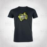 T-shirt Baco Get High Noir