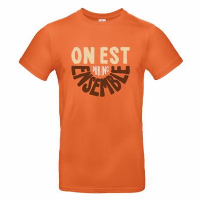 T-shirt Dub Inc On Est Ensemble Orange