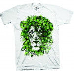 T-shirt Green Leaves Lion