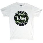 T-shirt Smoke Weed Everyday Blanc