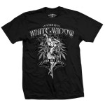 T-shirt White Widow Noir