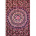 Tenture Badmeri Motif Violet-Rose 140 x 210 cm