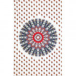 Tenture Badmeri Blanche-Rouge 140 x 210 cm