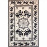 Tenture Black Elephants 140 x 210 cm