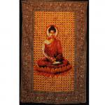 Tenture Bouddha Zen Rouge 140 x 210 cm