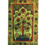 Tenture Eden Garden Vert 140 x 220 cm