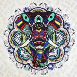 Tenture Elephant Colors 200 x 230 cm
