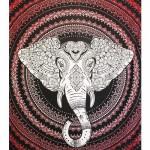 Tenture Elephant Rouge Grand Format 210 x 240 cm