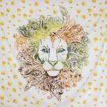 Tenture Lion Rasta 200 x 230 cm