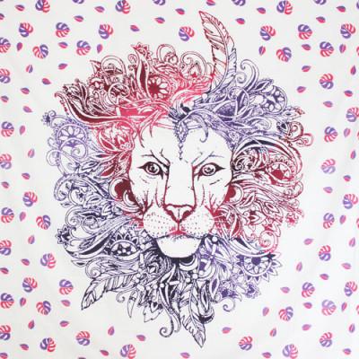 Tenture Lion Violet 200 x 230 cm