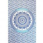 Tenture Lotus Bleue 140 x 220 cm
