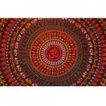Tenture Om Circle Orange 140 x 210 cm