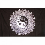 Tenture Psyché Mandala Leaf 140 x 220 cm