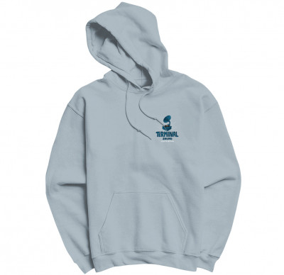 Sweat-shirt capuche Terminal Sound - Selecta Antwan Bleu Ciel (SOLDES)